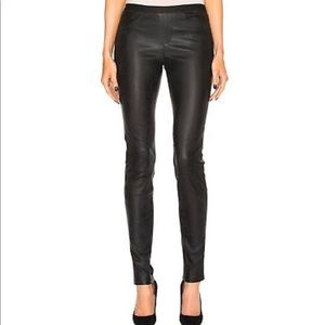 Helmut Lang black leather leggings NWT in size 8